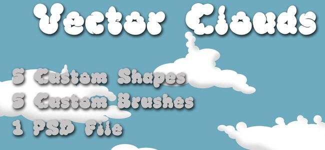 40+ Beautiful Photoshop Cloud Brushes - mameara