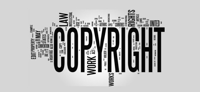 Copyright word typography