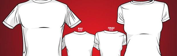temp large vectorgab 620x198 - Free Vector T-Shirt Templates