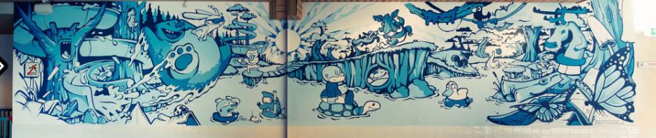 animal forest wall dizzy street art illustration1 940x198 - Art Of Wall Dizzy – Murals – Illustrations